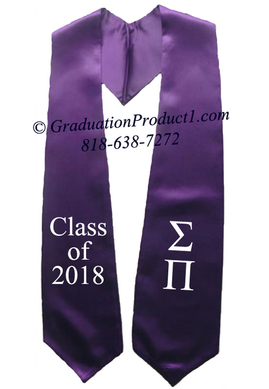 Sigma Pi Purple Greek Graduation Stole