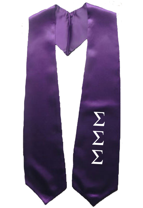 Sigma Sigma Sigma Purple Greek Stole