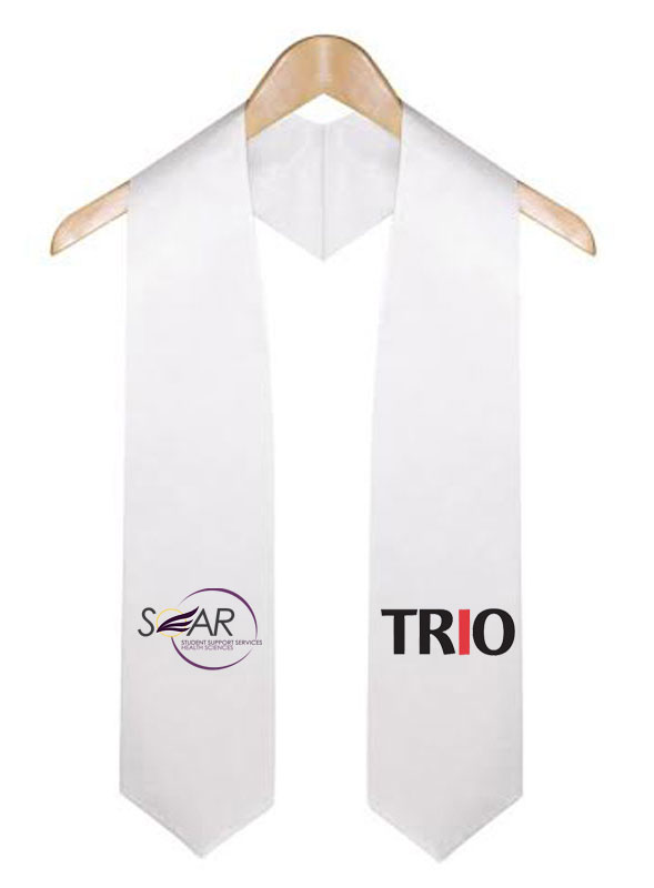 Soar Trio White Graduation Stole