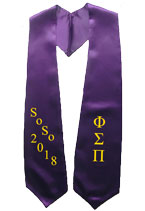 Soso 2018 Purple Greek Graduation Stoles