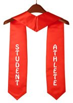 Student Athlete Red Graduation Stole