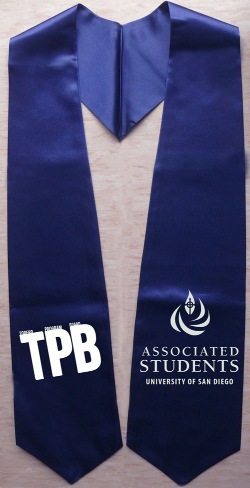 Tpb Navy Blue Graduation Stole
