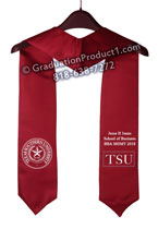 Texas Southern University Graduation Stole with Logo