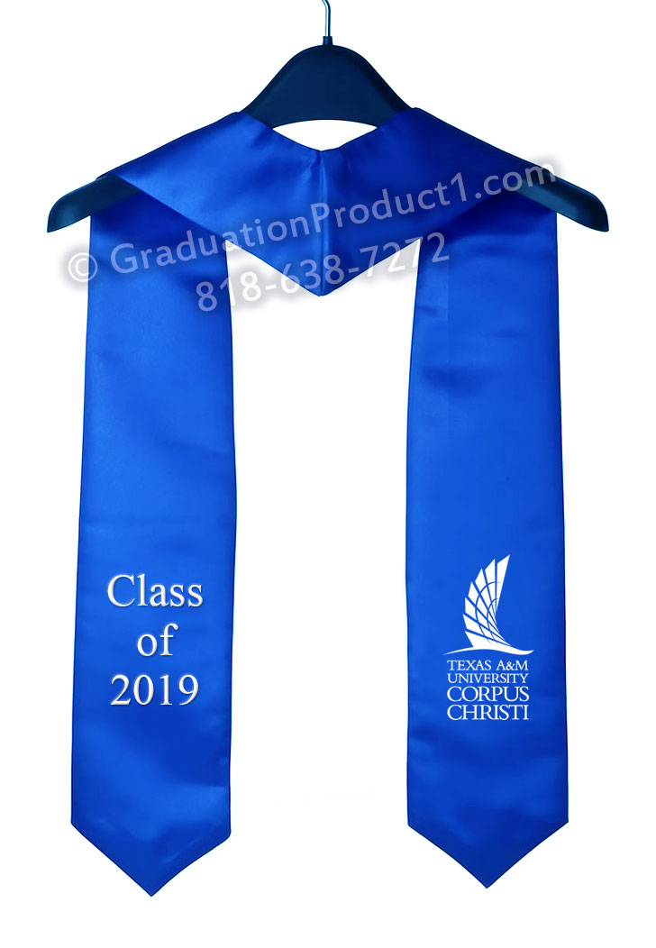 Tamucc Royal Blue Graduation Stole