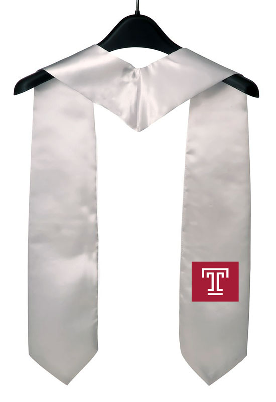 Temple University White Graduation Stole