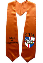 Orange Two Side Embroidered Graduation Stole With Logo