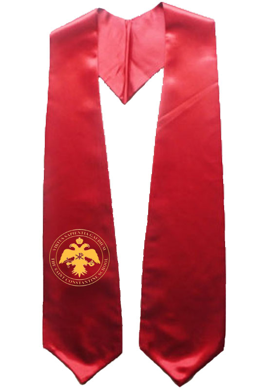 The Saint Constantine School Red Graduation Stole