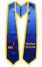 Trio BGSU Royal Blue Graduation Stole With Gold Trim