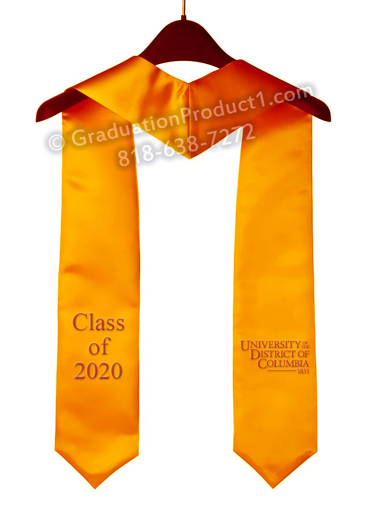 Udc Gold Graduation Stole
