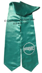 University Program Council Teal Graduation Stole with Logo