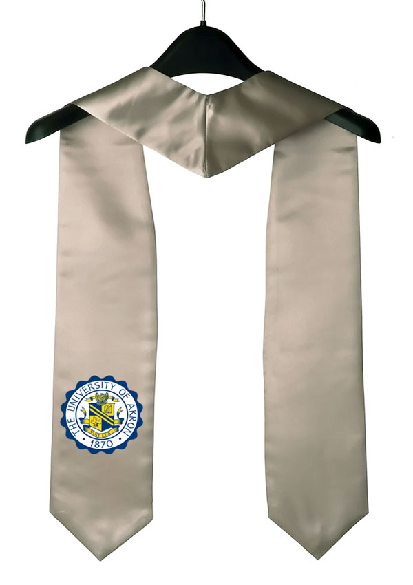 University Of Akron Silver Graduation Stole
