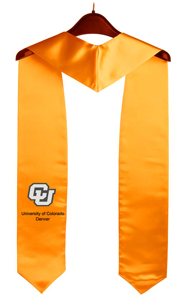 University Of Colorado Denver Graduation Stole