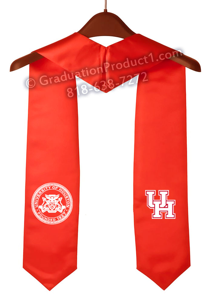 University Of Houston Red Graduation Stole