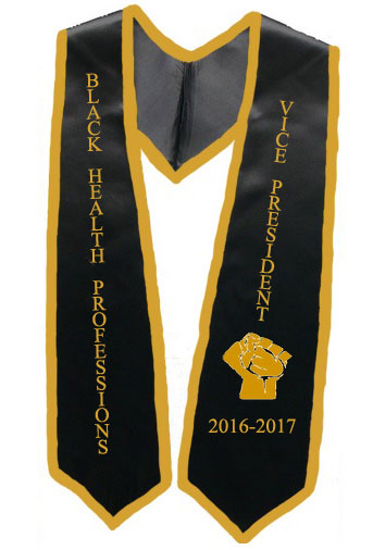 University Of Texas Vice President Black Stole With Gold Trim
