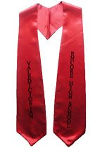 VALEDICTORIAN Red Graduation Stole
