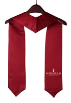 Maroon Two Side Embroidered Graduation Stole with Logo
