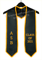 ASB Class of 2021 Graduation Stole with Gold Trim