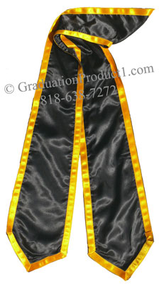 Black Stole With Trims Graduation Stole