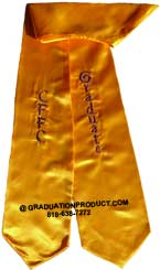 Gold Two Side Embroidered Graduation Stole