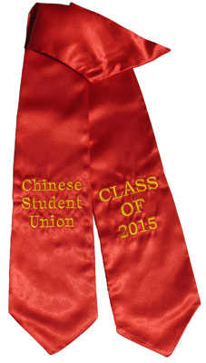 Chinese Student Association Red Graduation Stole