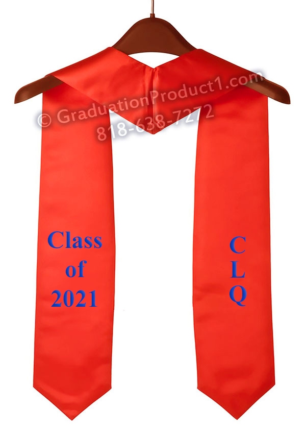 Clq Class Of 2021 Red Graduation Stole