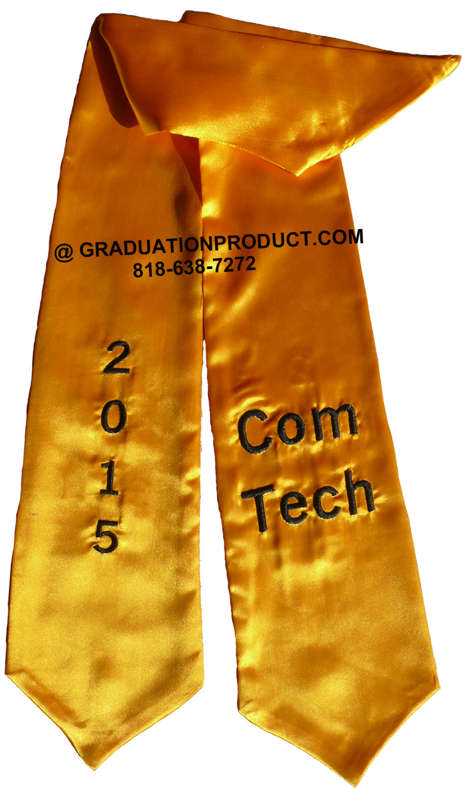 Com Tech Gold Graduation Stole