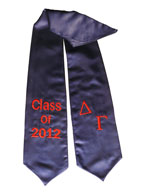 Delta Gamma Navy Blue Greek Graduation Stole
