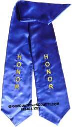 Royal Blue Honor Graduation Stole
