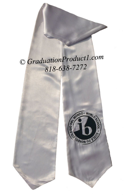 Ib School White Graduation Stole