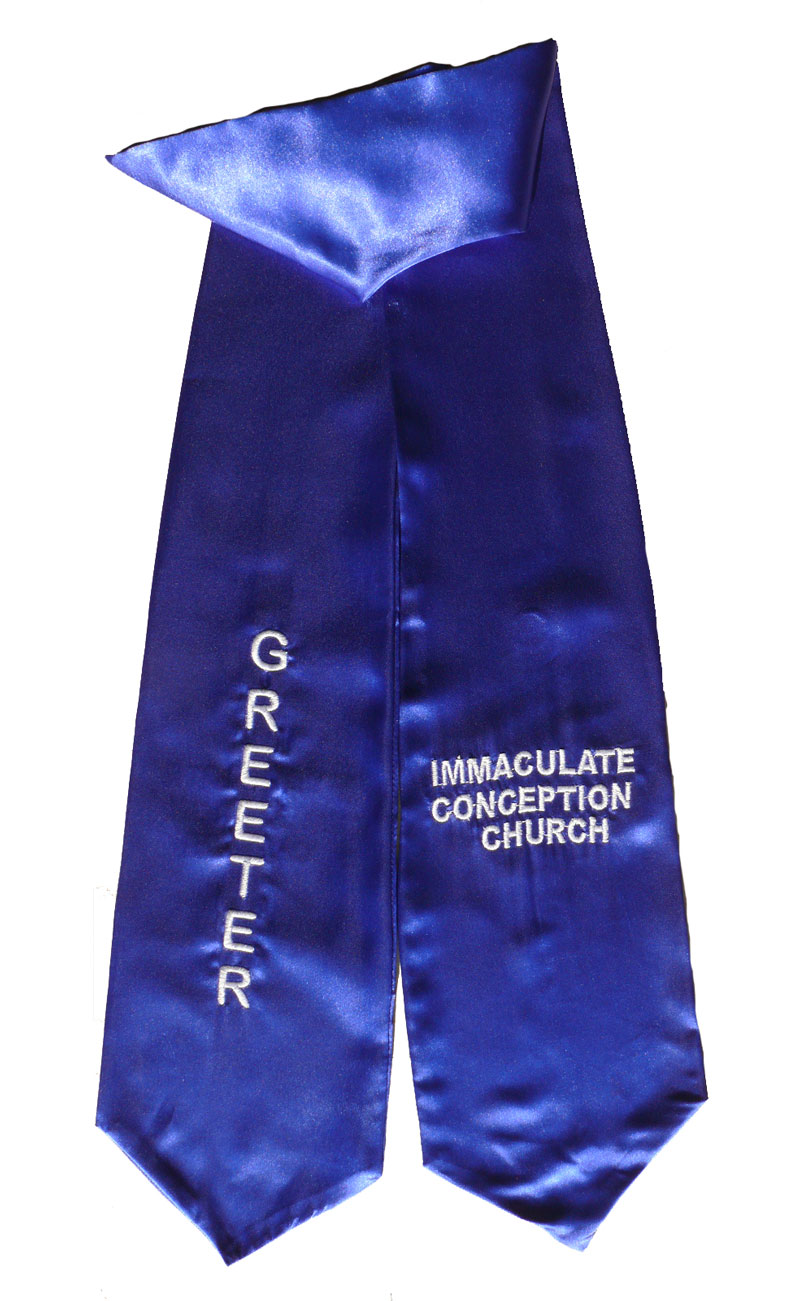 Immaculate Conception Church Greeter Stole