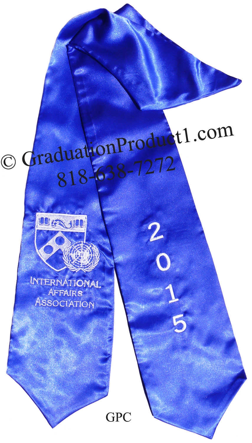 International Affairs Association 2015 Royalblue Graduation Stole