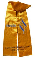 Kappa Beta Delta Gold Greek Graduation Stole