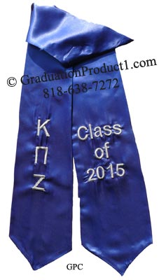 Kappa Pi Zeta Greek Graduation Stole