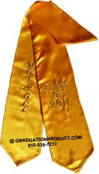MGT GCC Gold Graduation Stole