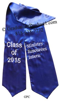 Ministry Resources Intern Graduation Stole