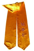 Mu Phi Epsilon Greek Graduation Stole