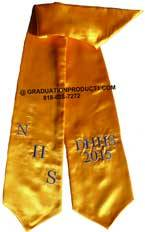 NHS DHHS Gold Graduation Stole