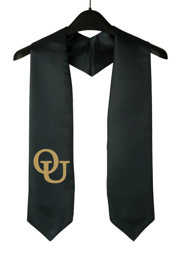 Oakland University Black Graduation Stole