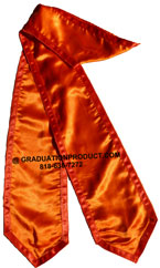 Orange Stole With Trims Graduation Stole