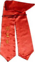 Pi Sigma Kappa Greek Graduation Stole