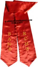 RCHS Band Red Graduation Stole