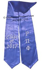 Rho Pi Phi Greek Graduation Stole