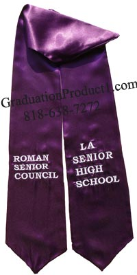 LA Senior High School Graduation stole