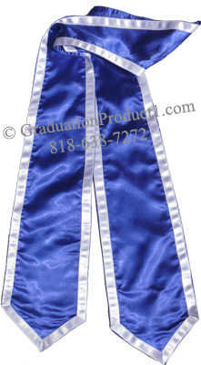 Royal Blue Stole With Trims Graduation Stole