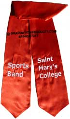 Saint Marys College Sports Band Graduation Stole
