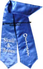 Skull and Bones University Of Tampa Graduation Stole