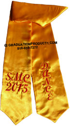 Smc Dance Gold Graduation Stole