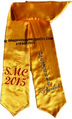 Smc Lefevre Award Gold Graduation Stole