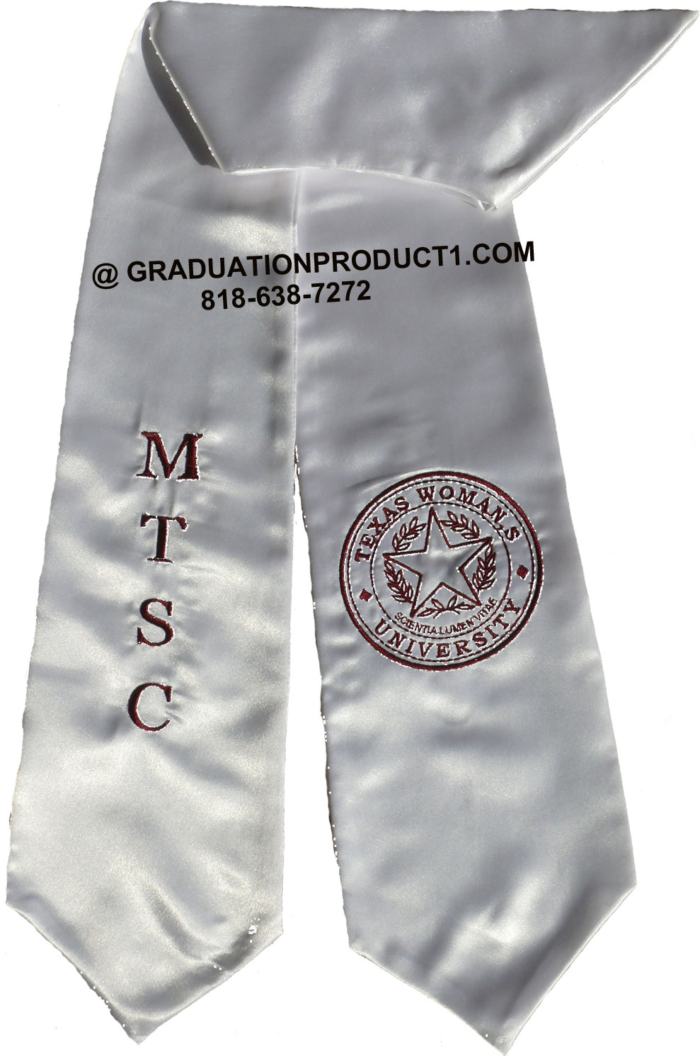 Texas Womans University Mtsc Graduation Stole
