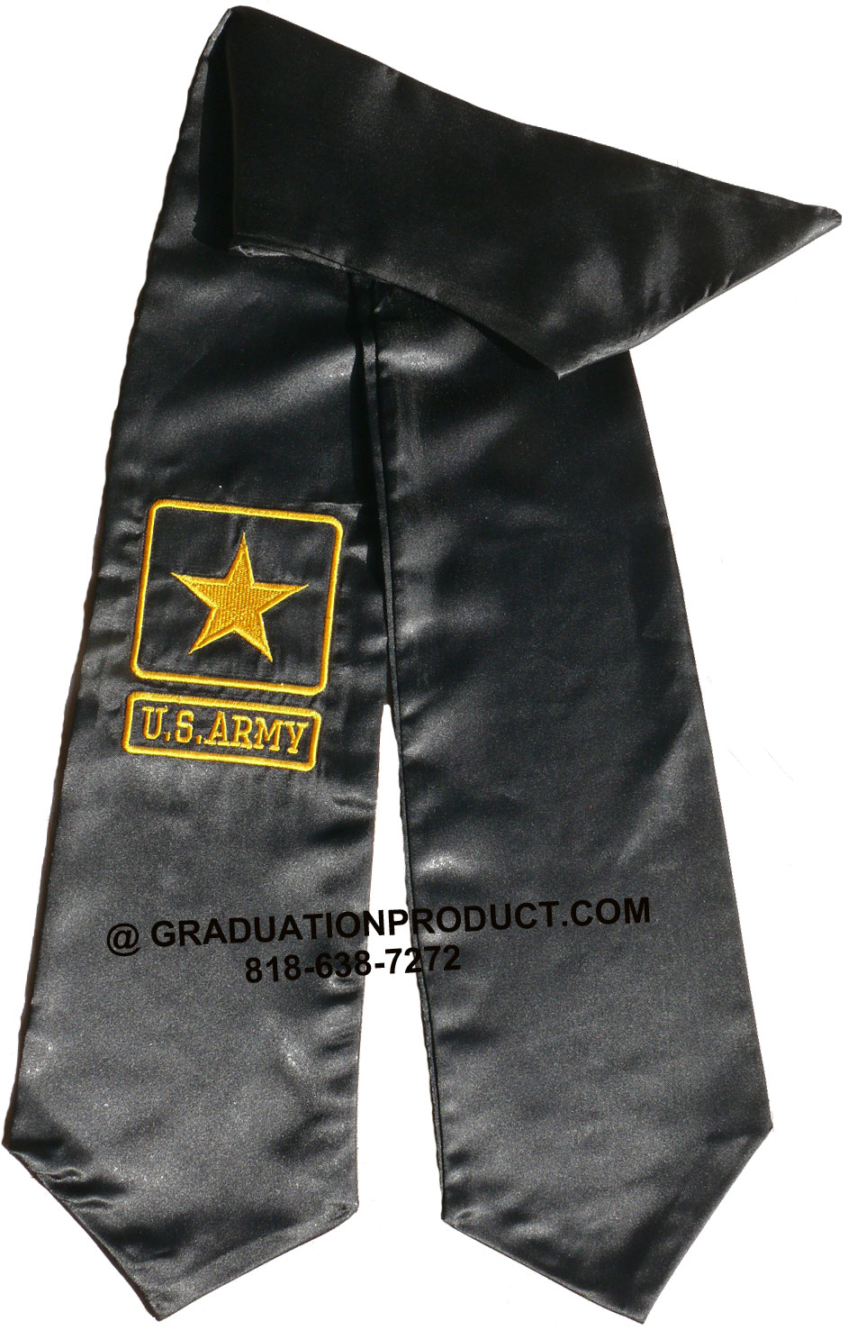 Us Army Black Graduation Stole